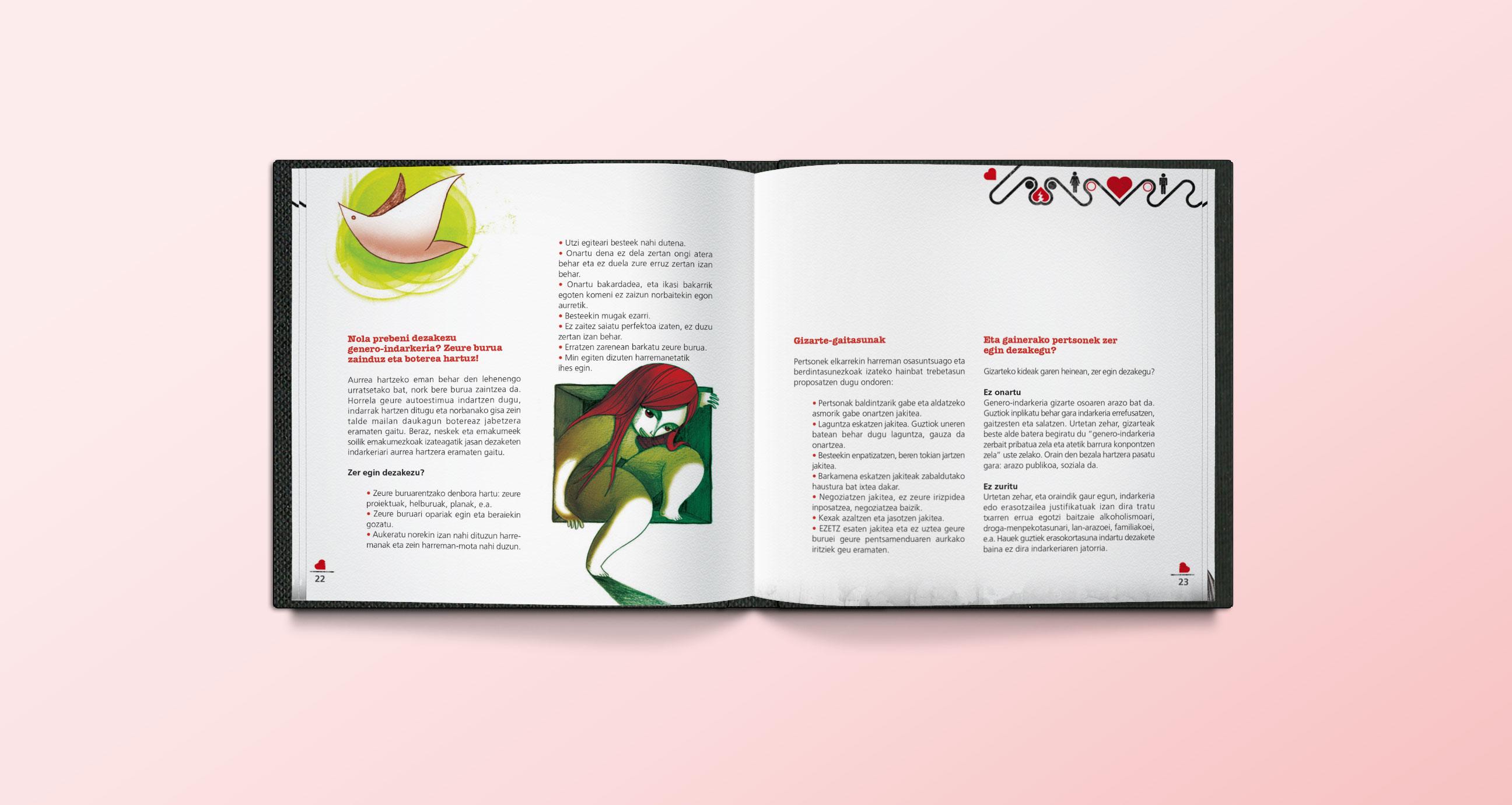 Ejemplo maquetación Guía de los Buenos Amores