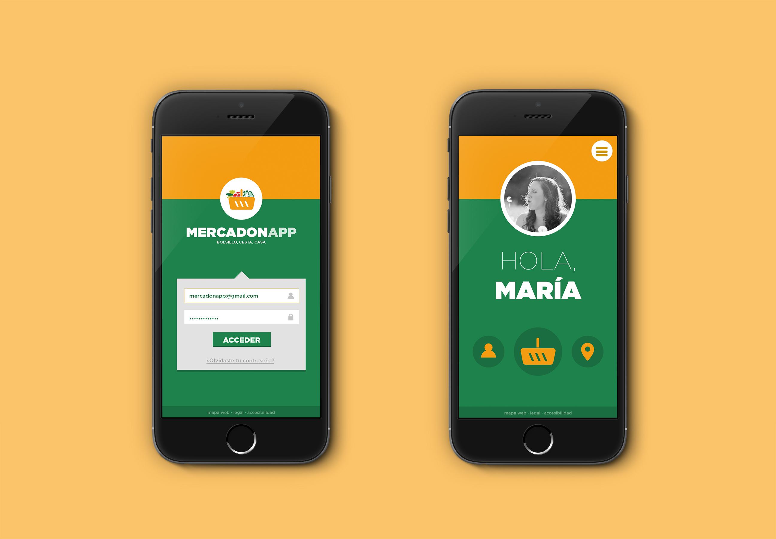 Muestra pantallas aplicación